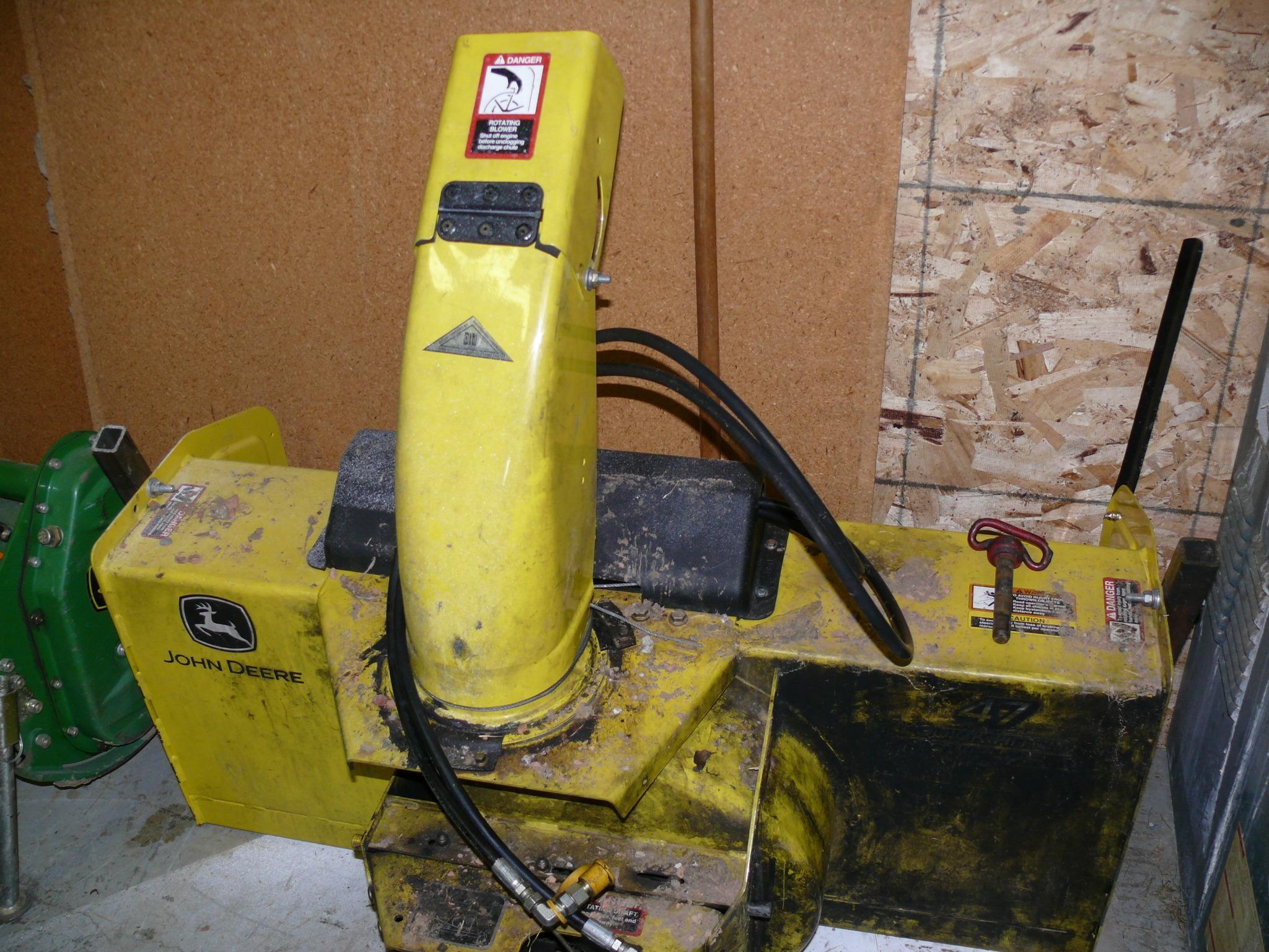John Deere Snow Blower Attachment : Wisconsin ag connection john deere snow blower