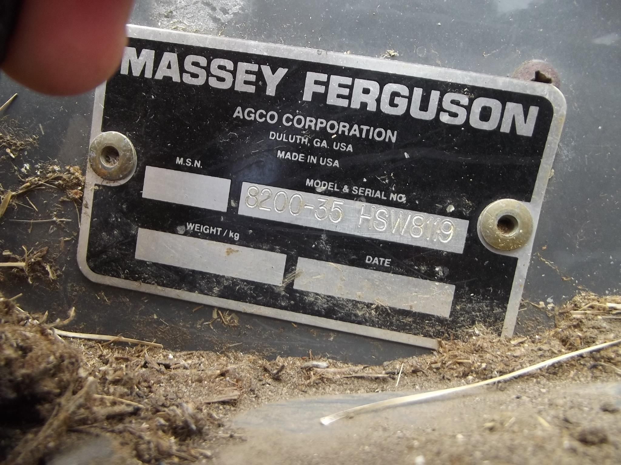 2007 Massey Ferguson 8200 Butler Machinery