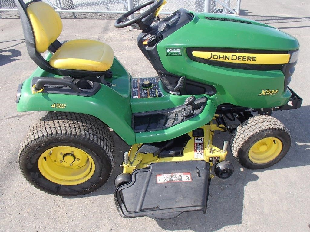 wisconsin ag connection john deere x534 riding lawn mowers for sale. Black Bedroom Furniture Sets. Home Design Ideas