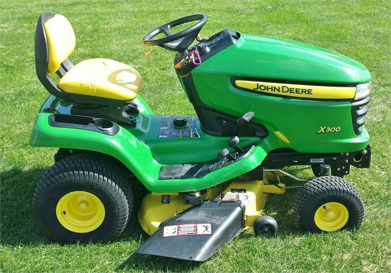 john deere x300 riding lawn mower for sale on. Black Bedroom Furniture Sets. Home Design Ideas