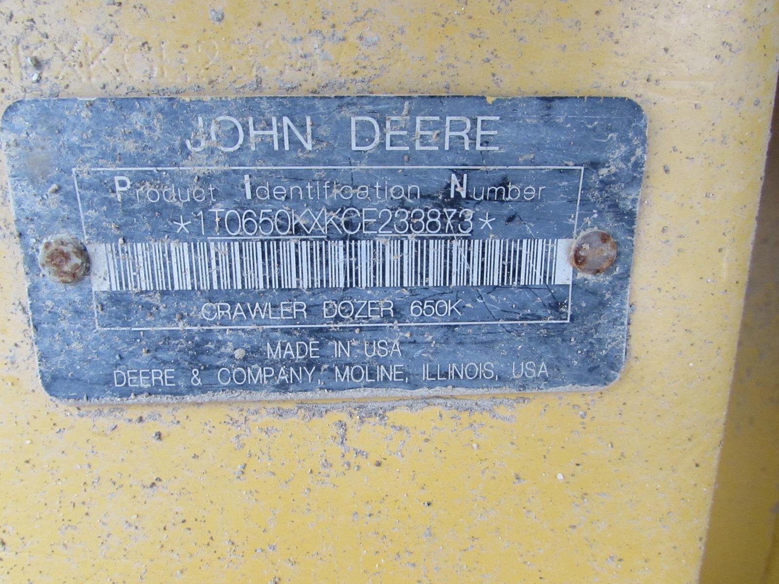 Detail photo of 2013 John Deere 650K XLT from Construction Equipment Guide