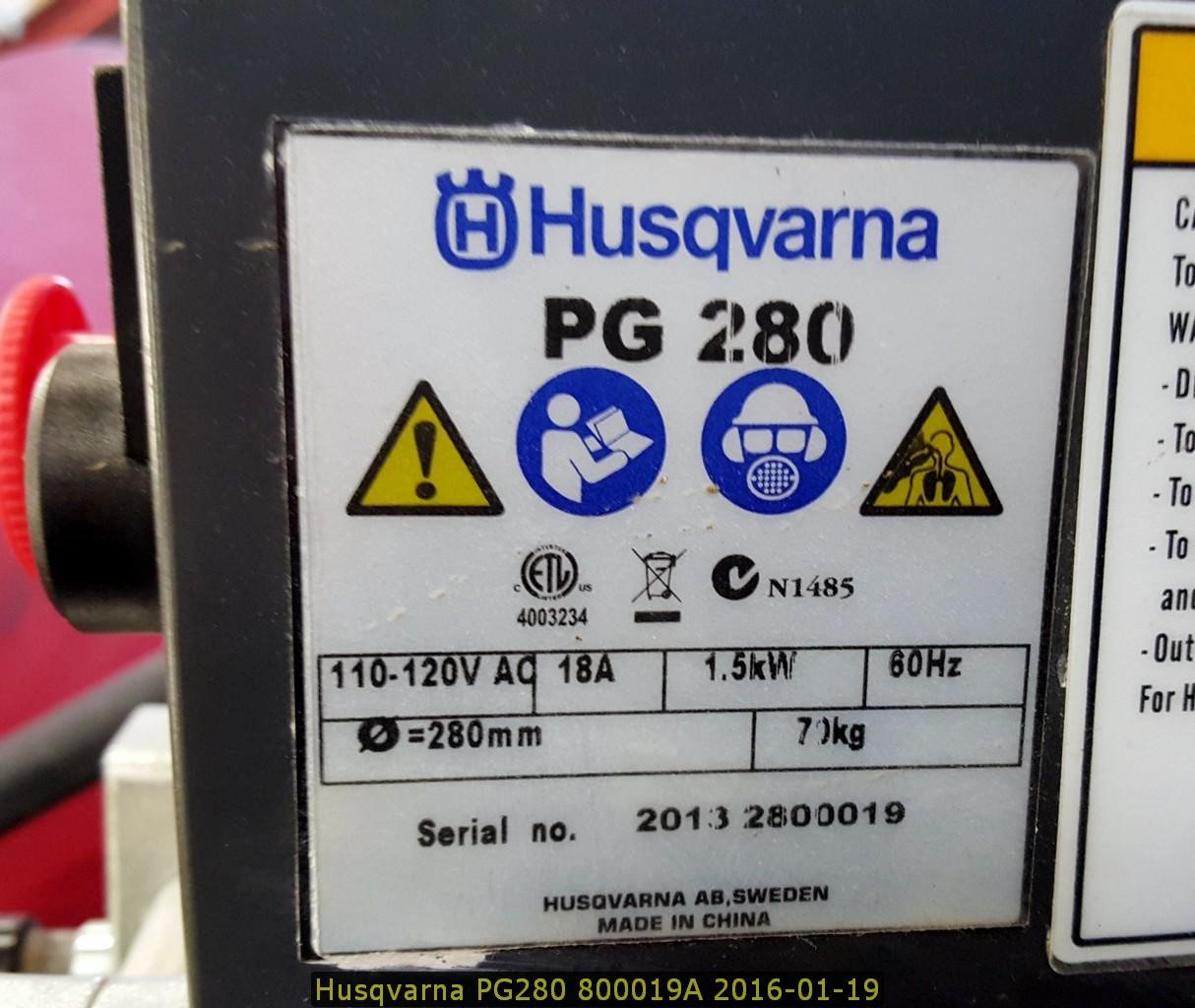 Detail photo of 2014 Husqvarna PG280 from Construction Equipment Guide