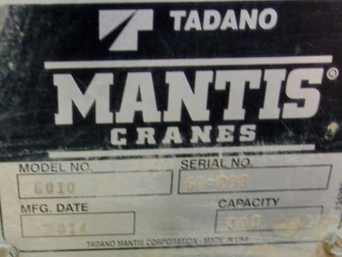 Detail photo of 2014 Mantis 6010 from Construction Equipment Guide