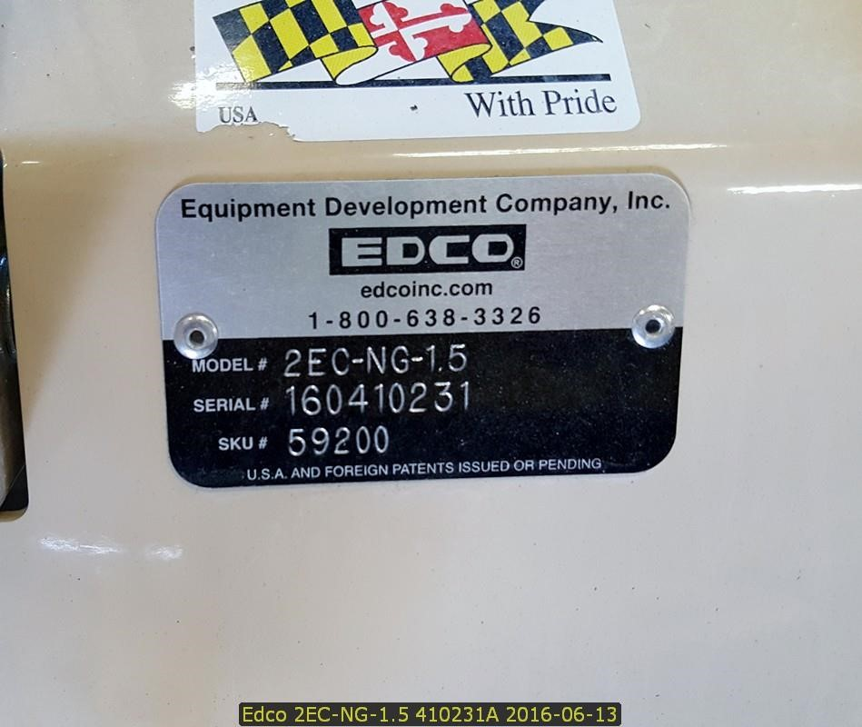 Detail photo of 2016 Edco 2ECNG1.5 from Construction Equipment Guide