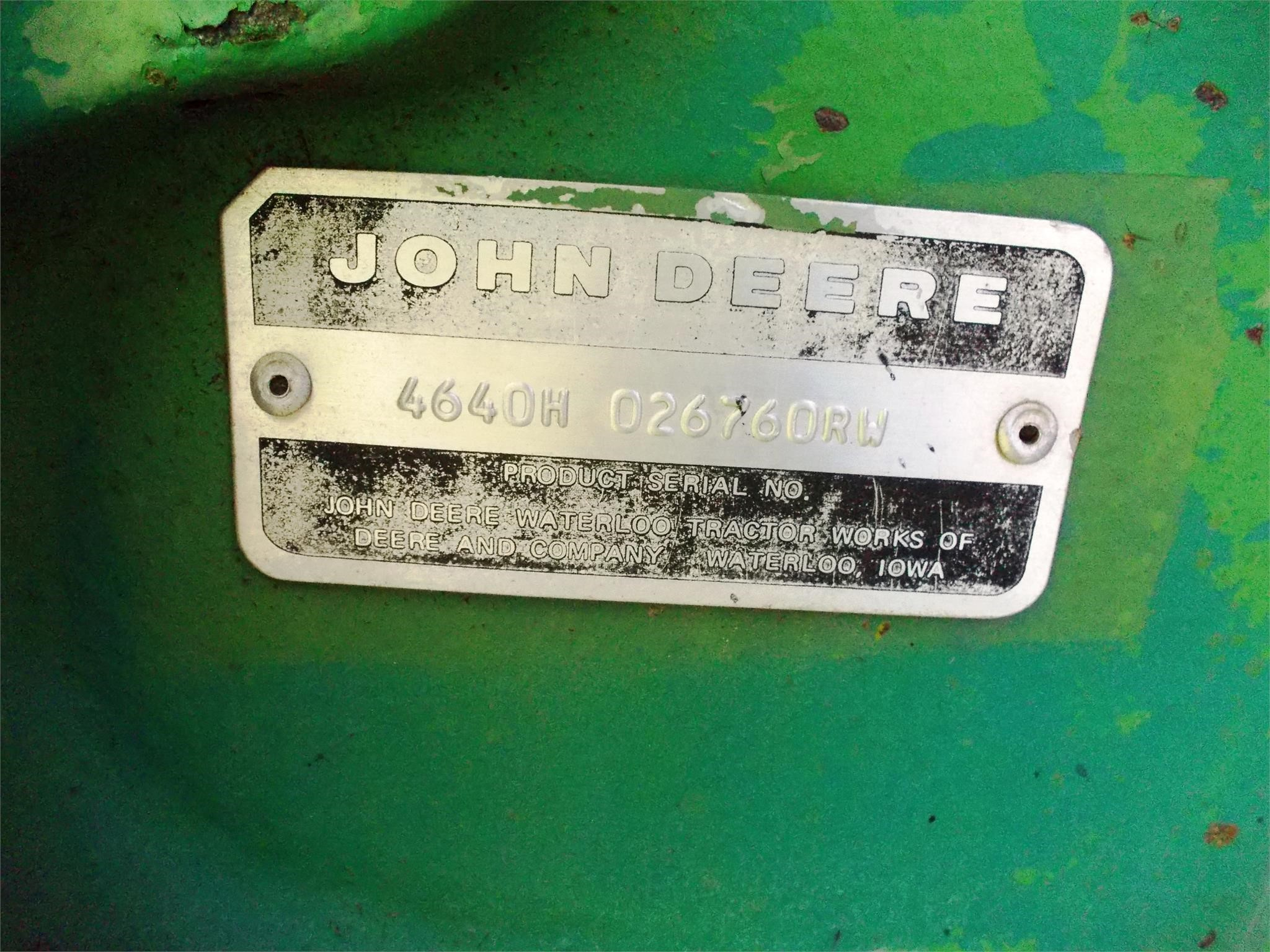 Detail photo of 1982 John Deere 4640 from Construction Equipment Guide
