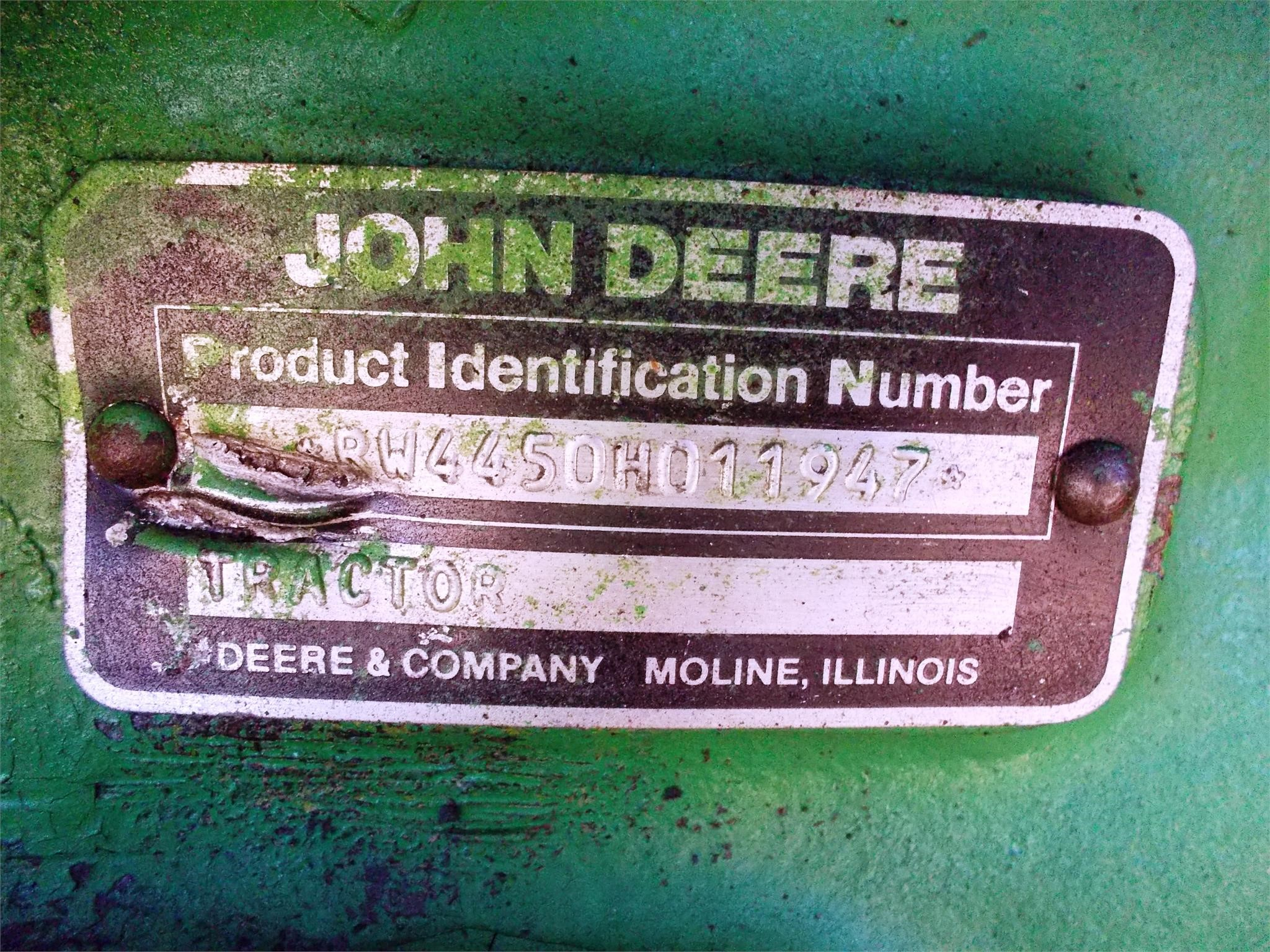 Detail photo of 1984 John Deere 4450 from Construction Equipment Guide