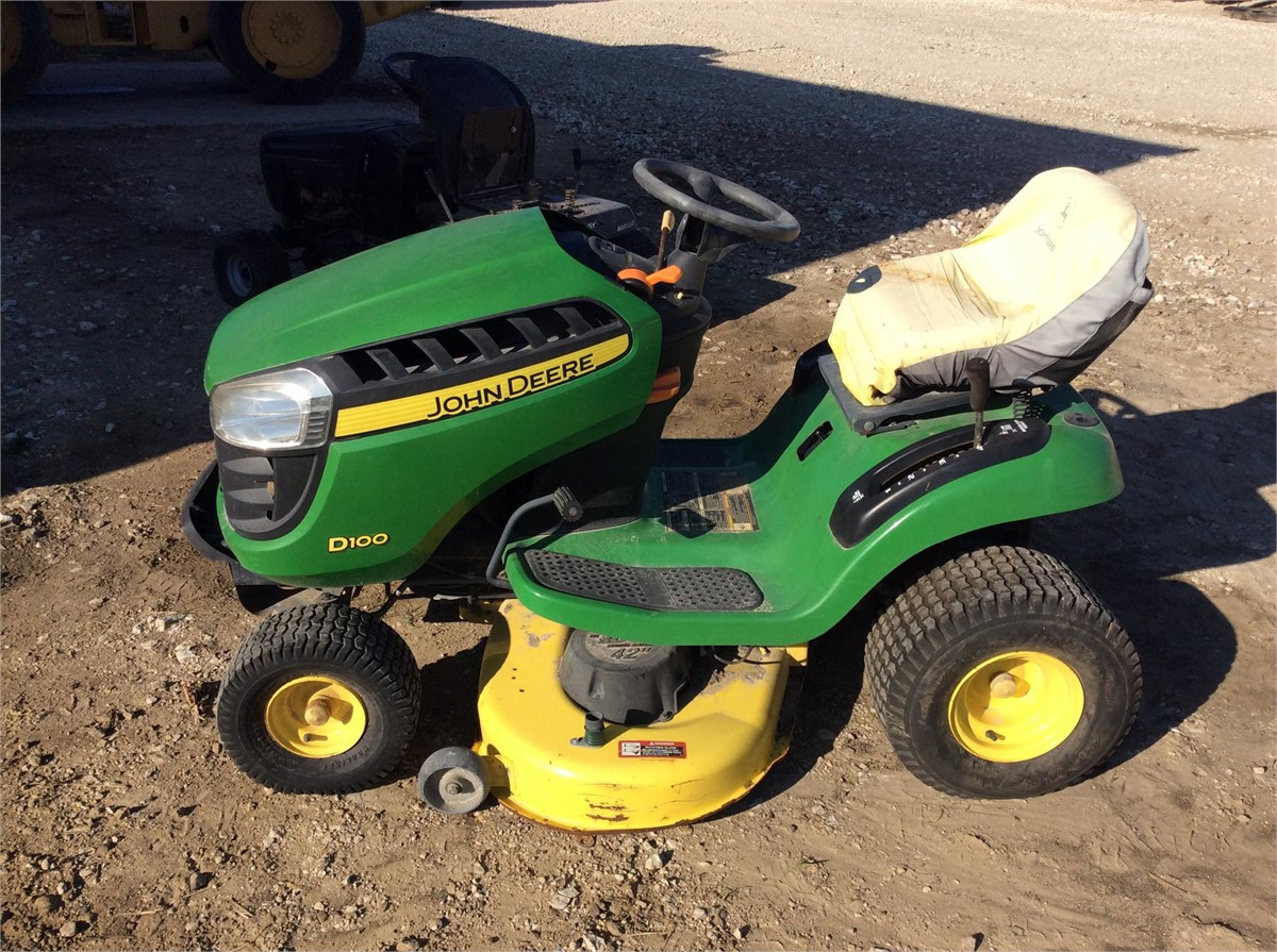 John Deere D100 Specifications : John deere d other equipment riding lawn mowers