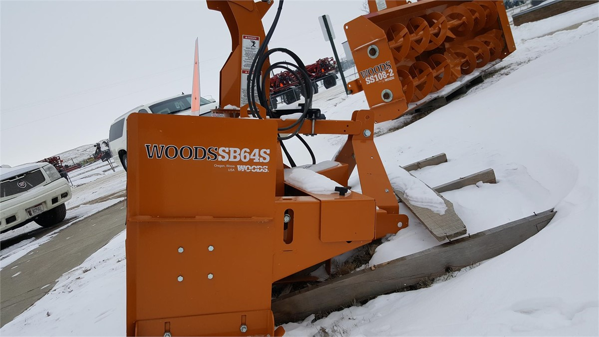 2011 Woods Sb64s Snow Blower For Auction At