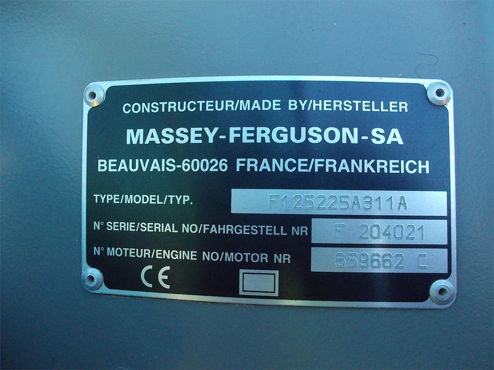 Detail photo of 1997 Massey Ferguson 6180 from Construction Equipment Guide