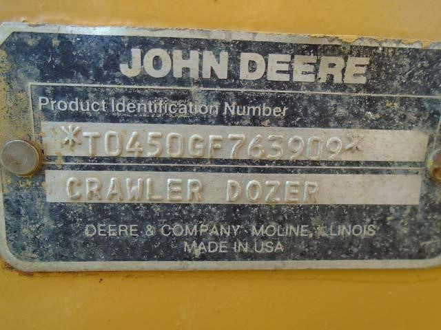 Detail photo of 1989 John Deere 450G from Construction Equipment Guide