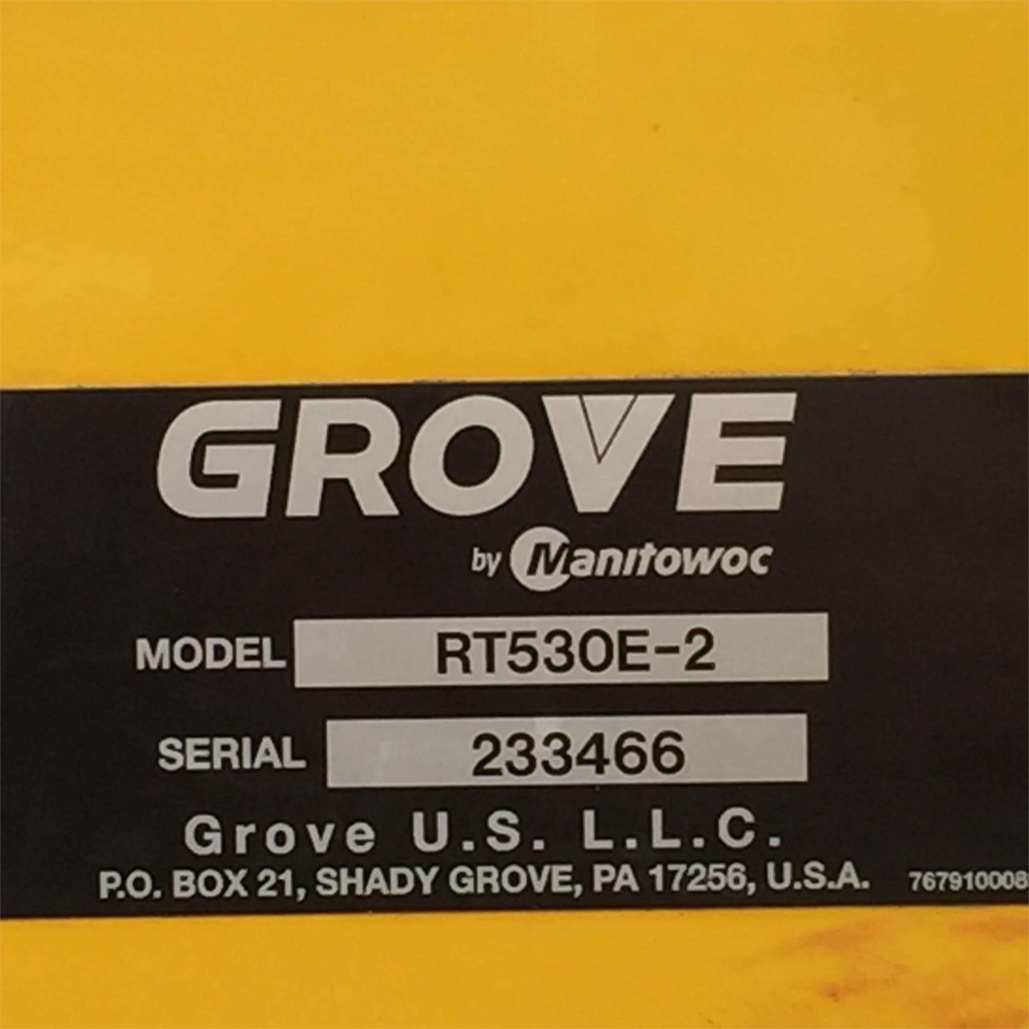 Detail photo of 2013 Grove RT530E-2 from Construction Equipment Guide