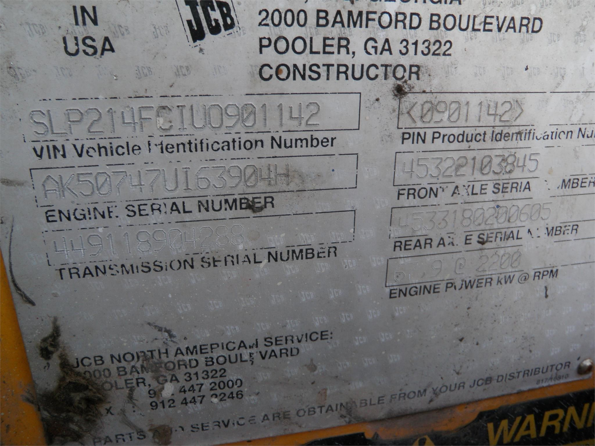 Detail photo of  JCB 214S III from Construction Equipment Guide