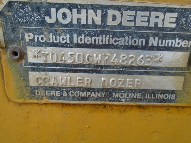 Detail photo of 1988 John Deere 450G LGP from Construction Equipment Guide