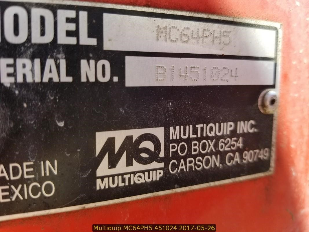 Detail photo of 2014 Multiquip MC64PH5 from Construction Equipment Guide