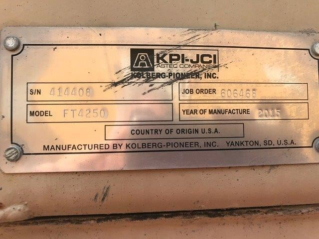 Detail photo of 2015 KPI-JCI FT4250CC from Construction Equipment Guide