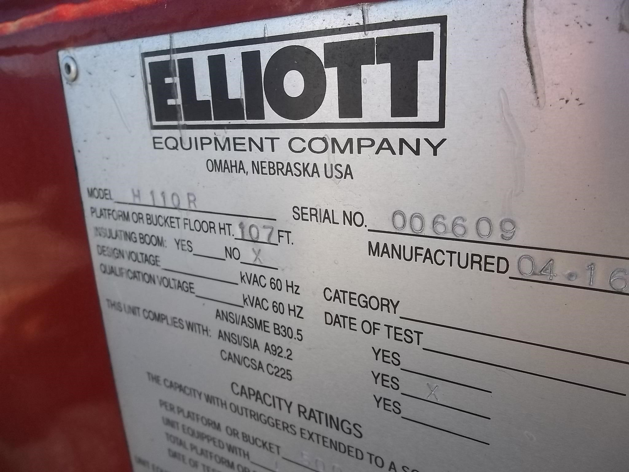 Detail photo of 2016 Elliott H110R from Construction Equipment Guide