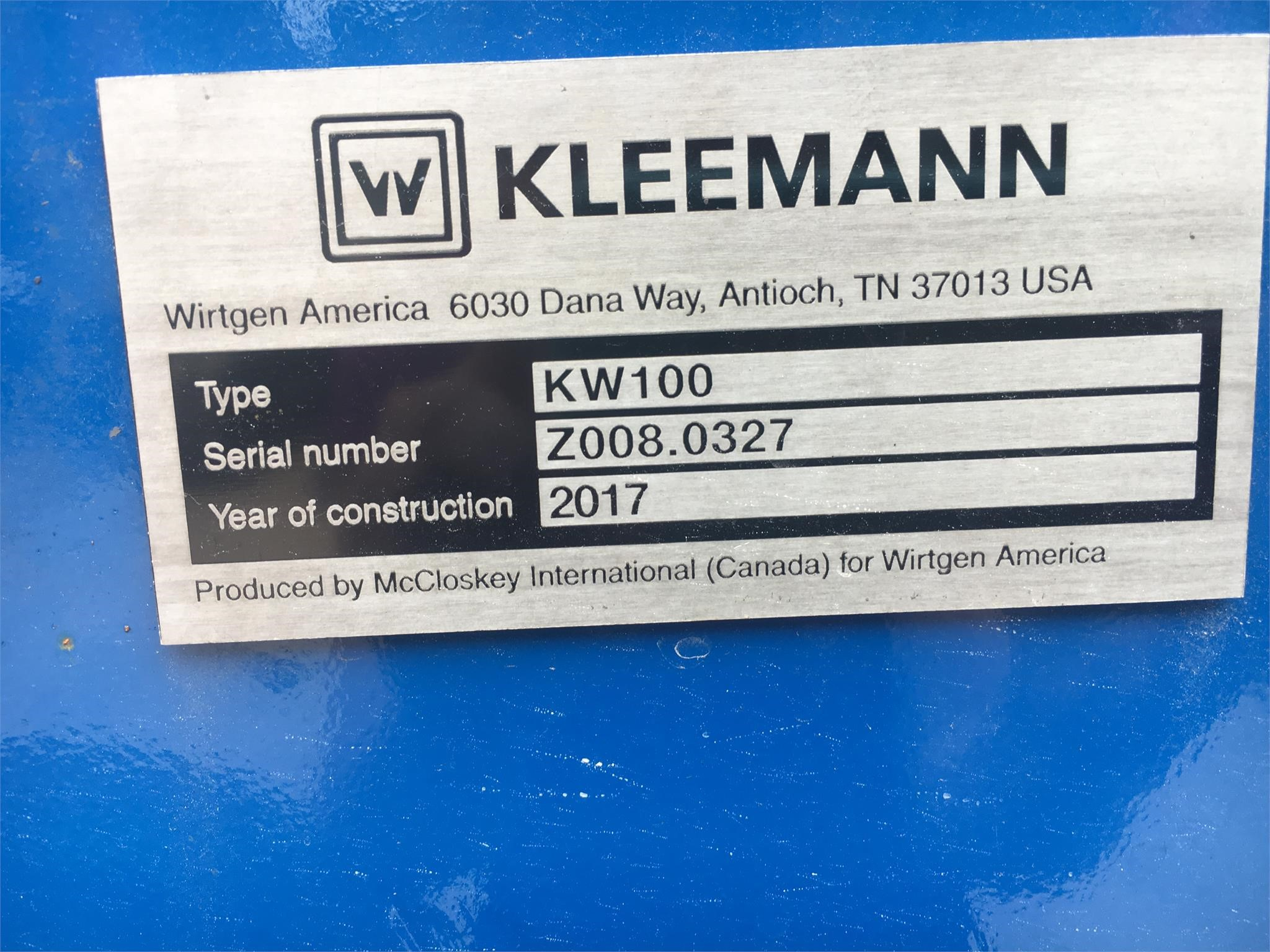 Detail photo of 2017 Kleemann KW100 from Construction Equipment Guide