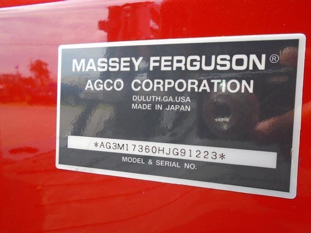 Detail photo of 2017 Massey Ferguson 1736 from Construction Equipment Guide