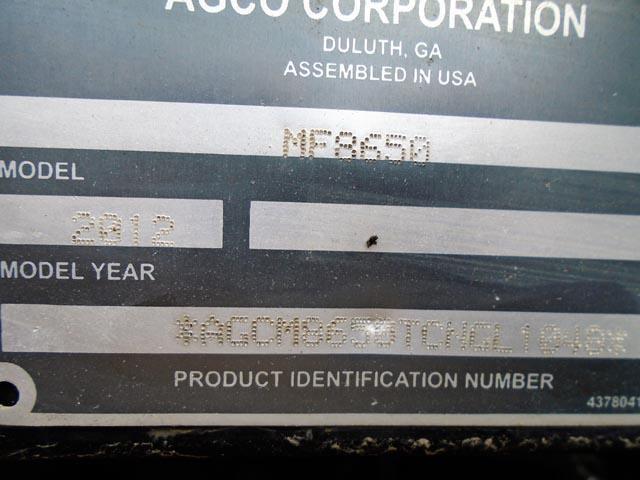 Detail photo of 2012 Massey Ferguson 8650 from Construction Equipment Guide