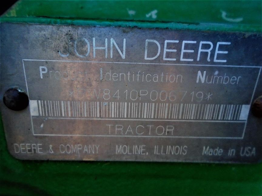 Detail photo of 2000 John Deere 8410 from Construction Equipment Guide