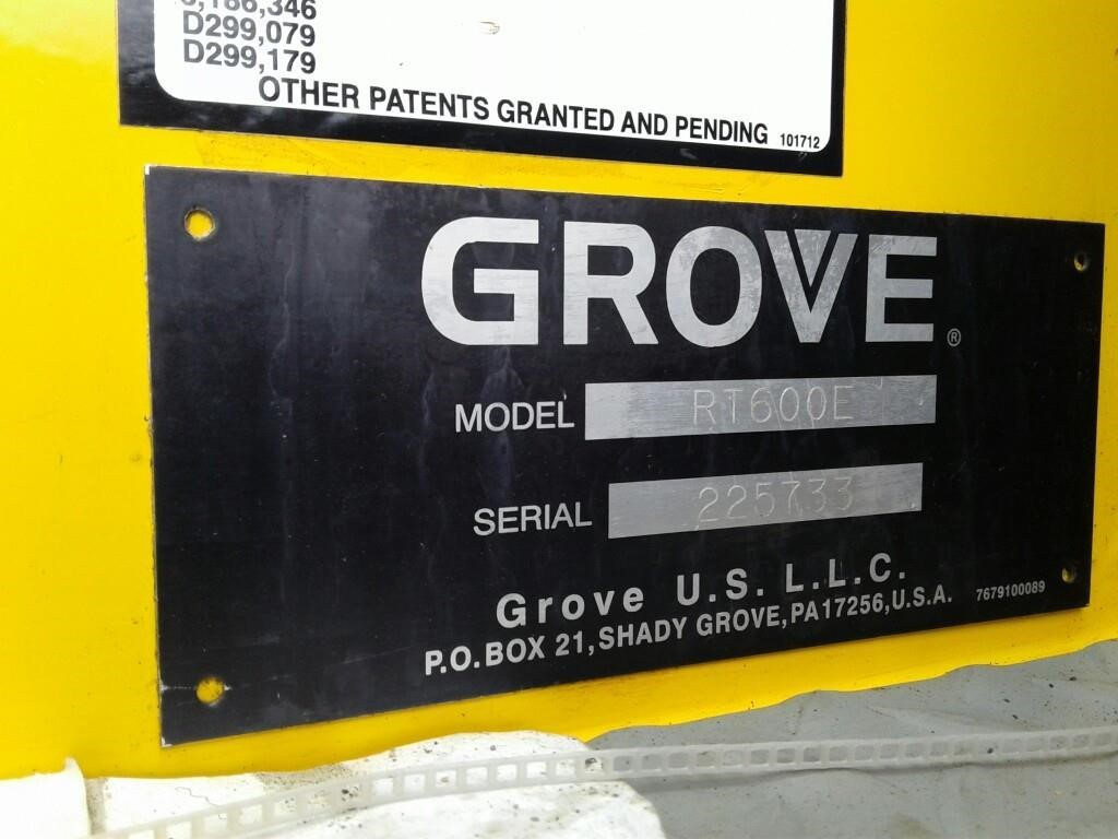 Detail photo of 2006 Grove RT650E from Construction Equipment Guide