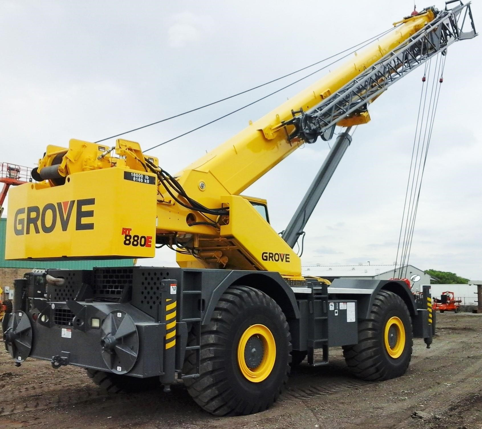 Detail photo of 2008 Grove RT880E from Construction Equipment Guide