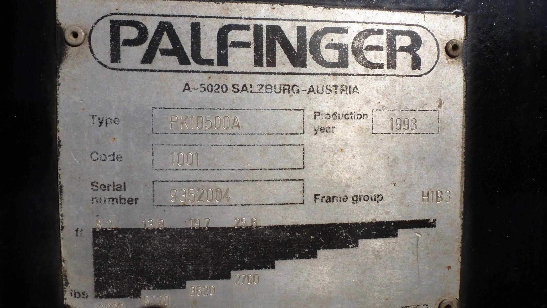 Detail photo of 1993 Palfinger PK10500A from Construction Equipment Guide