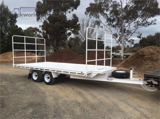 2017 Rebel 5.3m x 2.4m Hay Trailer with Hay Racks - Truckworld.com.au - Trailers for Sale