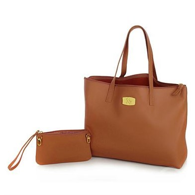 5b3db9e853 JOY MANGANO GENUINE LEATHER SMART BAG WITH RFID-PROTECTED CLUT at  AuctionTime.com
