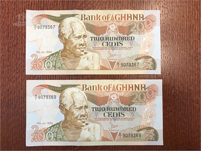 SET OF (2) BANK OF GHANA 200 CEDIS Other Items Auction