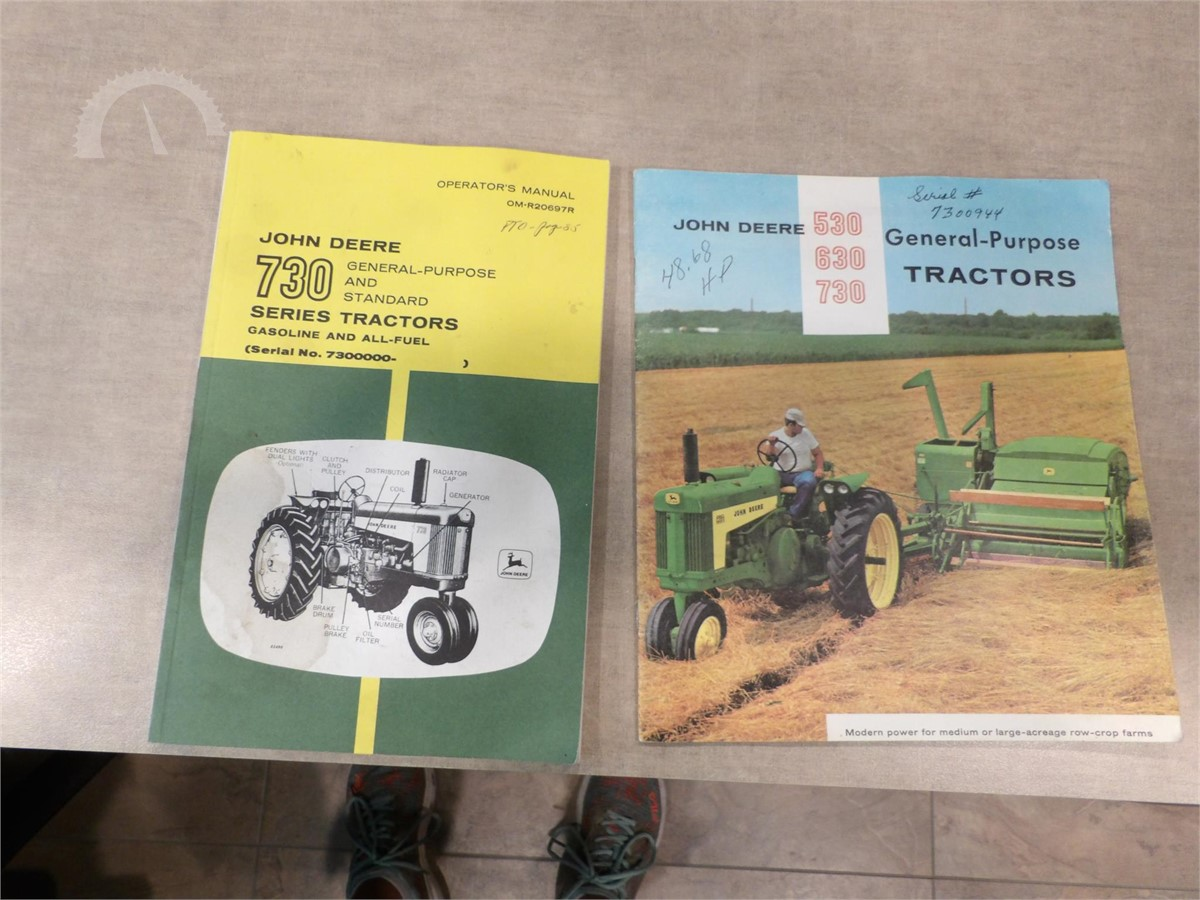 AuctionTime.com | JOHN DEERE 730 TRACTOR OPERATOR's MANUAL Online Auctions