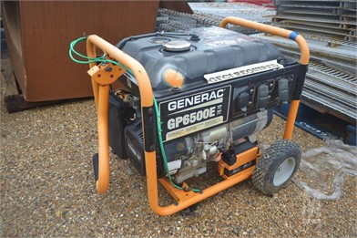 GENERAC GP6500E GENERATOR W/ GAS MOTOR Other Auction Results - 2