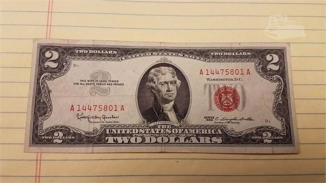 MachineryTrader li | US MINT 1963 RED SEAL $2 PAPER CURRENCY BILL