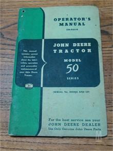 John Deere Operator's Manual Manuals Auction Results - 1
