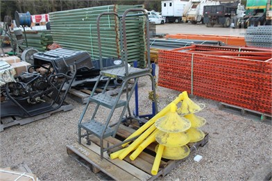 PALLET W/ STEP LADDER & SAFETY CHAIN Other Auction Results
