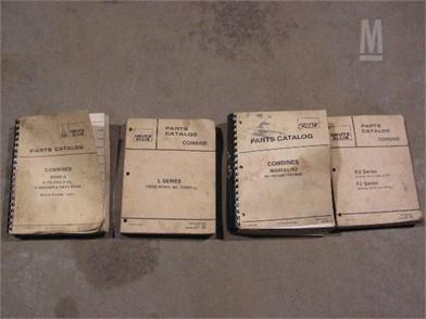 Gleaner Dealer Combine Parts Catalogs Manuals Auction Results - 2