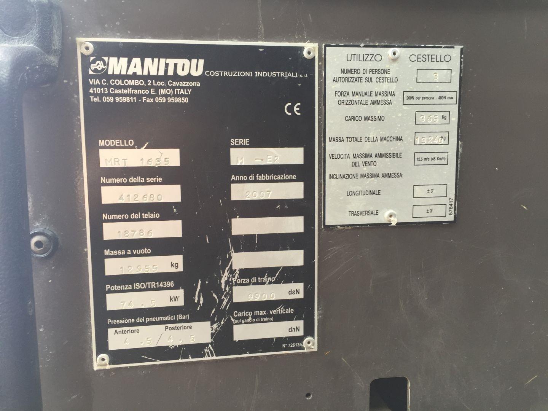 Manitou MRT2150 Usato 2007