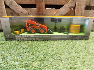 KUBOTA 1/18 Scale Ssv65 Skid Steer & Attachments For Sale In ... on