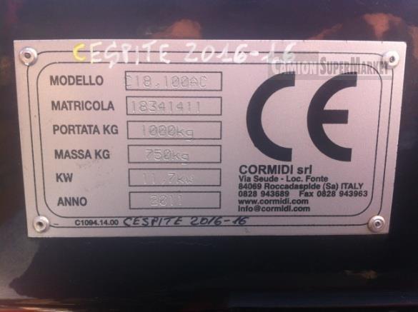 CORMIDI C18.100 Usato 2011 Calabria