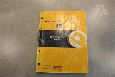 JOHN DEERE 410E BACKHOE OPERATOR's MANUAL Auction Results