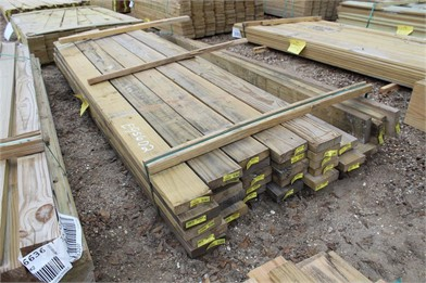 Lot Of (34) Treated Yellow Wood 2X6x8 Boards Other Auction
