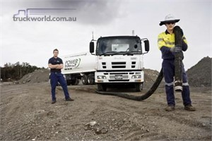 Pumping industrial waste with the power of Isuzu