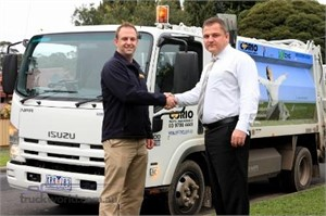 CNG truck on bin duty for Corio Waste Managemet