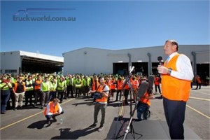 Volvo Group Australia welcomes Tony Abbott to the Wacol factory