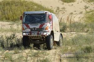 Hino warms up for Dakar at Rally Mongolia