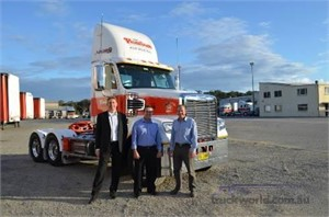 Freightliner celebrates 200th delivery to Jim Pearson Transport by Mavins Truck Centre