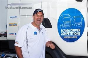 Glenn Yogi Kendall wins Scanias Truck Driver Competition