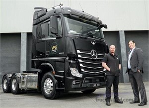 New Mercedes Benz truck is already saving fuel for Victorian Freight Specialists