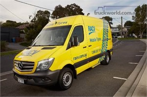 RACV taking a tyre workshop on the road with the Mercedes Benz Sprinter