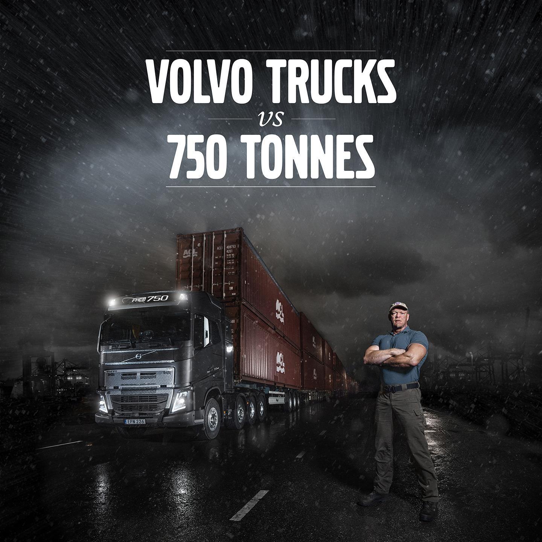 Volvo FH16 v 750 tonnes